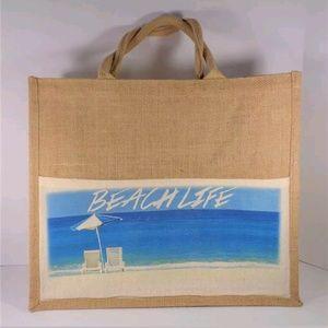 Handbags - NAUTICAL LARGE BEACH TOTE BEACH BAG